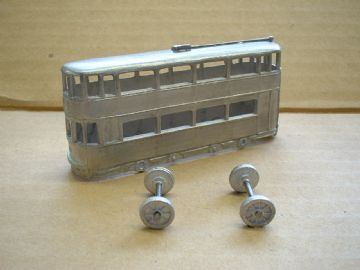 A DINKY TOYS COPY MODEL 27 TRAMCAR - OVALTINE [ IN KIT FORM ]